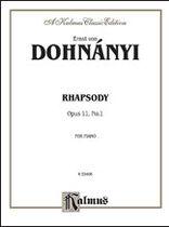 Rhapsody, Op. 11, No. 1 - Music Book