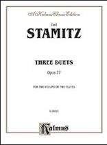 Johann Stamitz - Three Duets, Op. 27 - Music Book