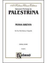 Giovanni Pierluigi Da Palestrina - Missa Brevis - Music Book