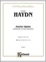 Franz Joseph Haydn - Trios for Violin, Cello and Piano, Volume II (Nos. 7-12) - Music Book
