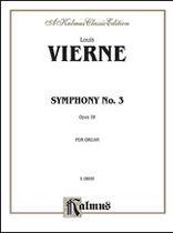 Louis Vierne - Symphony No. 3, Op. 28 - Music Book
