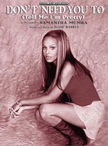 Samantha Mumba - Don't Need You To - Music Book