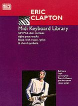 Eric Clapton - Eric Clapton MIDI Keyboard Library General MIDI Software Book & Disk Package - Book/Software Kit