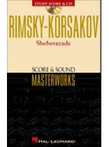 Nikolai Rimsky-Korsakov - Rimsky-Korsakov - Sheherazade - Study Score & Sound Masterworks CD - Book/CD set