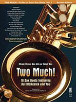 Hal McKusick - Two Much! 16 Duets for Saxophone - Music Minus One - Alto Sax - Book/CD set