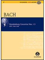 Johann Sebastian Bach - Brandenburg Concertos 1-3, BWV 1046/1047/1048 -  Study Score / CD - Eulenburg Audio and Score - Book/CD set