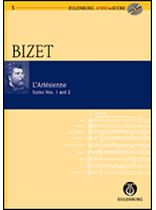 Georges Bizet - L'Arl?sienne Suite 1+ 2 - Study Score / CD - Eulenburg Audio and Score - Book/CD set