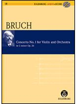 Max Bruch - Violin Concerto No. 1, G Minor, Op. 26 - Study Score / CD - Eulenburg Audio and Score - Book/CD set