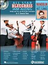 All Star Bluegrass Jam Along - For Mandolin - Book/CD set