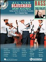 All Star Bluegrass Jam Along for Bass - For Bass - Book/CD set