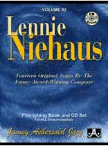 Lennie Niehaus - Aebersold Volume 92:Lennie Niehaus Book/CD set