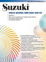 Dr. Shinichi Suzuki - Suzuki Violin School MIDI Disk Acc./CD-ROM, Volume 4 - Multimedia Kit