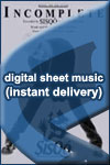 Sisqo - Incomplete - Sheet Music (Digital Download)
