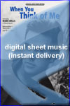 Mark Wills - When You Think of Me - Sheet Music (Digital Download)