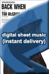 Tim McGraw - Back When - Sheet Music (Digital Download)