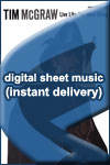Tim McGraw - Old Town New - Sheet Music (Digital Download)